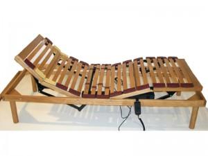 comfort rete a doghe elettrica in legno singola matrimoniale 03